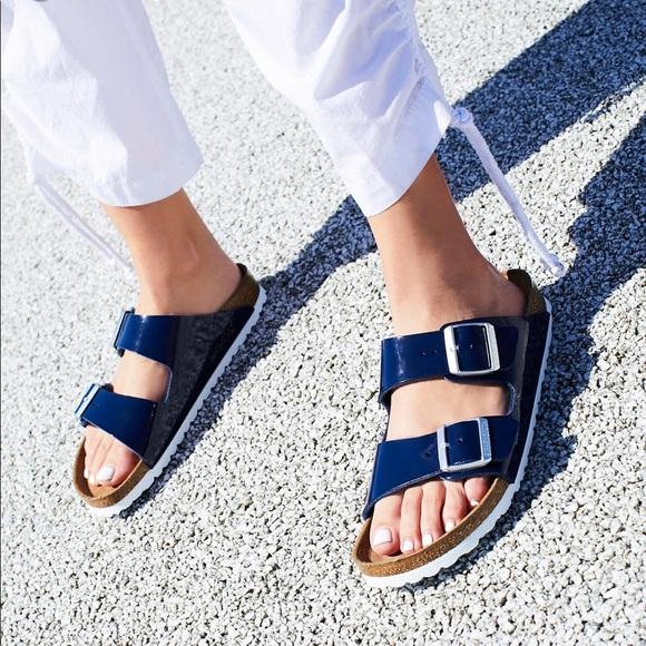 24d7d271cb3 Birkenstock Shoes - Birkenstock    Arizona Sandal in Blue Patent